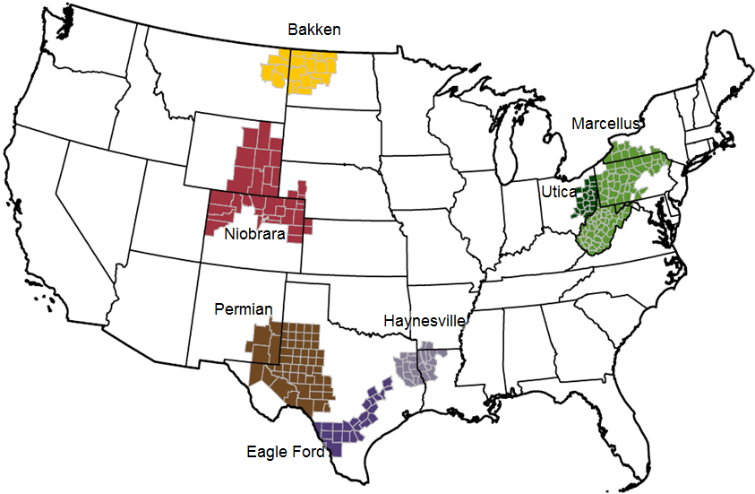 us shale oil drilling productivity and decline rates